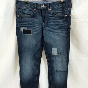 GAP 1969 Always Skinny sz 28/6 Patchwork Jeans